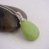 Key lime wire wrapped necklace in lime green