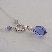 Nila tanzanite wire wrapped necklace Sterling silver