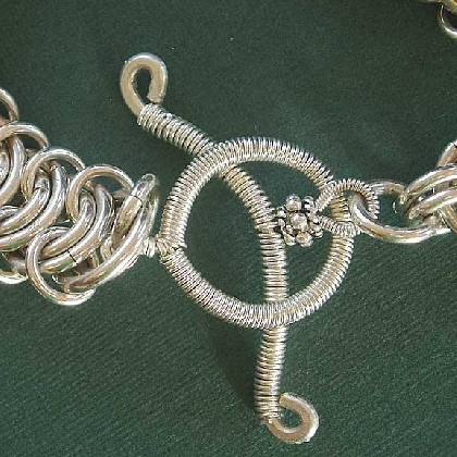 Wire Wrapped Toggle clasp tutorial