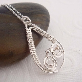 Belleville wire wrapped necklace in sterling silver