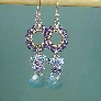 Wire wrapped cluster dangle earrings tutorial