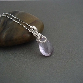 Serenity Amethyst wire wrapped Necklace