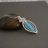 Kanari turquoise wire wrapped necklace