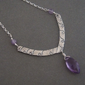 Vivianne Necklace in sterling silver and purple amethyst