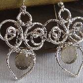 Jardin wire wrapped Earrings in Lemon quartz and sterling silverFrom Colettesboutique