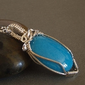 blue Kawaii wire wrapped NecklaceFrom Colettesboutique