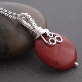 Fiola red wire wrapped Necklace
