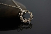Silver wreath handmade wire wrapped Necklace