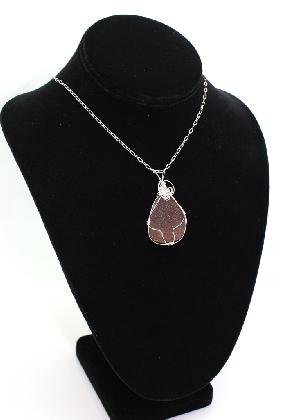 Amber Treasures Sterling Sea Glass Pendant BR004