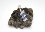 Cobalt Blue Sea Coils Sea Glass Pendant BL007