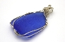 Cobalt Blue Message Pendant BL002