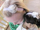 American Girl Matching Headbands Lavender