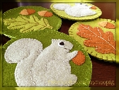 Woodland Felt Coaster Set