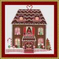 Gingerbread House Cross Stitch Pattern