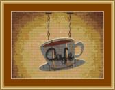 Cafe Sign Cross Stitch Pattern