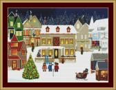 Carol Singers Cross Stitch Pattern
