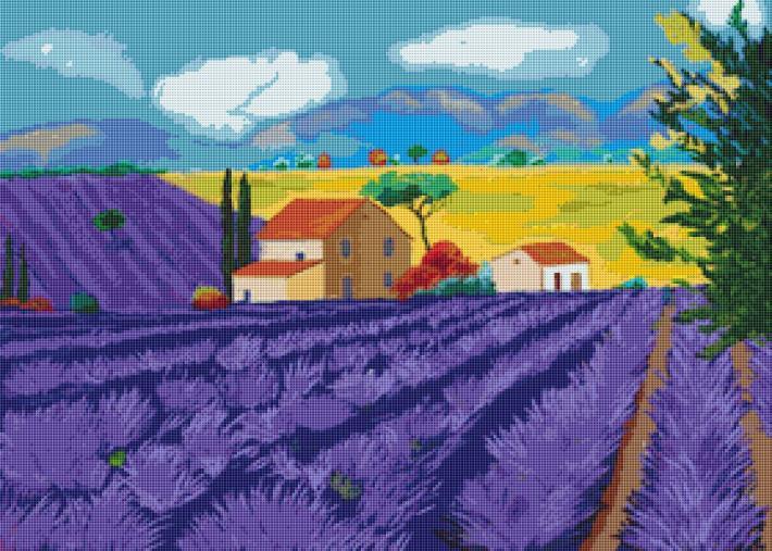 In Amongst The Lavender Cross Stitch Pattern