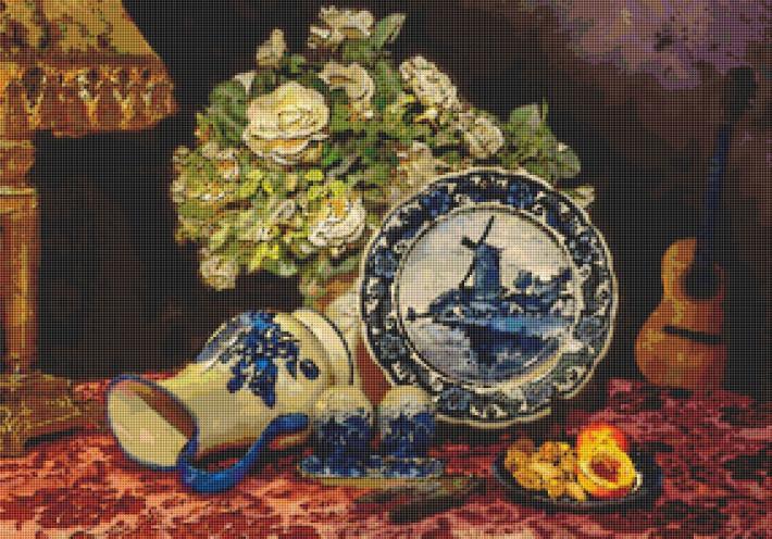 Delph Blues Cross Stitch Pattern