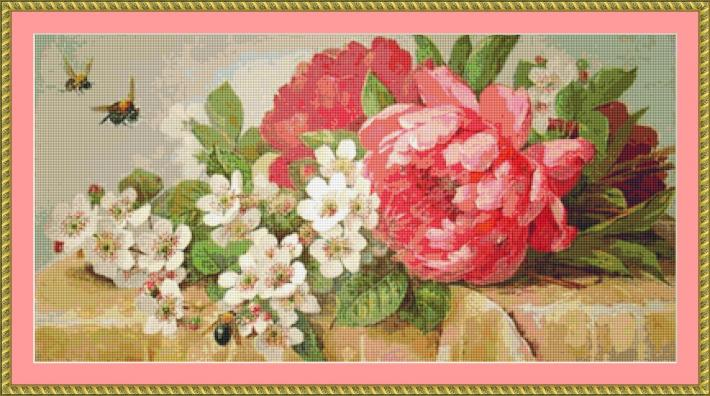 Early Visitors Cross Stitch Pattern