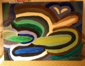 Blue Path Original Abstract Acrylic Painting