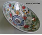 Bird of paradise porcelain wash basin