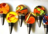 Fused Glass Lollipop Bottle Stoppers