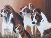 Original Painting THE HUNTING HOUNDS