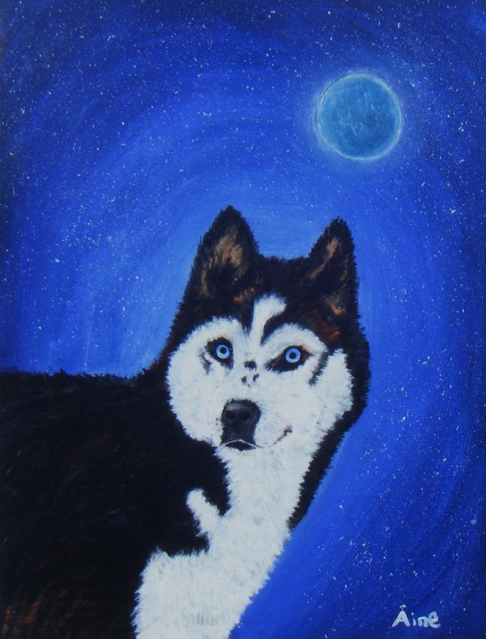 Original Painting The Siberian Husky