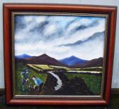 Original Irish Art A Day in the Bog