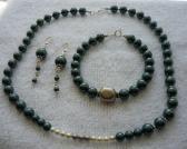 Tahitian Pearl Necklace Bracelet N Earrings Set Free Shipping