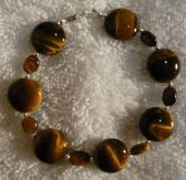 Tigers Eye Gemstones Bracelet Free Shipping