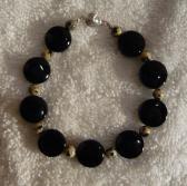 Black Agate Coin N Dalmatian Beads Free Shipping