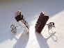 Chocolate Candy Bar Earrings