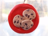 Chocolate Chip Cookie Plate Pendant