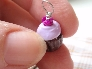 Lilac Frosted Cupcake Necklace