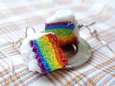 Rainbow Cake Earrings