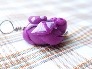 Purple Spotted Dragon Pendant