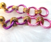 Niobium Pink Shade Chainmaille Earrings