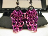 Pink n Berry Chainmaille Niobium Earrings