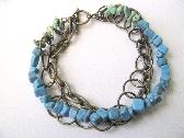 Ocean Blue Green Stone Bracelet