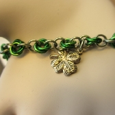 Wearin of the Green Chainmaille Bracelet
