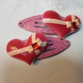 Heart Hair Clips
