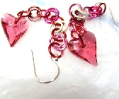 Swarovski Pink Wild Heart Earrings