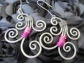 Iron Works and Pink Earrings