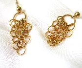 Goldplated Chandelier Chainmaille Earrings