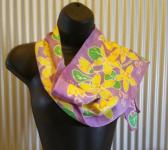Hand Painted Batik Silk Scarf