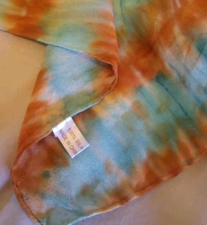 Hand Painted Shibori Silk Scarf