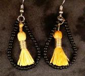 Black and Gold Teardrop 1