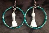 Teal and White Blue Hoops