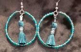 Teal and Dark Teal Hoops